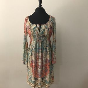 Boston Proper Boho Style Bell Sleeve Dress US 0